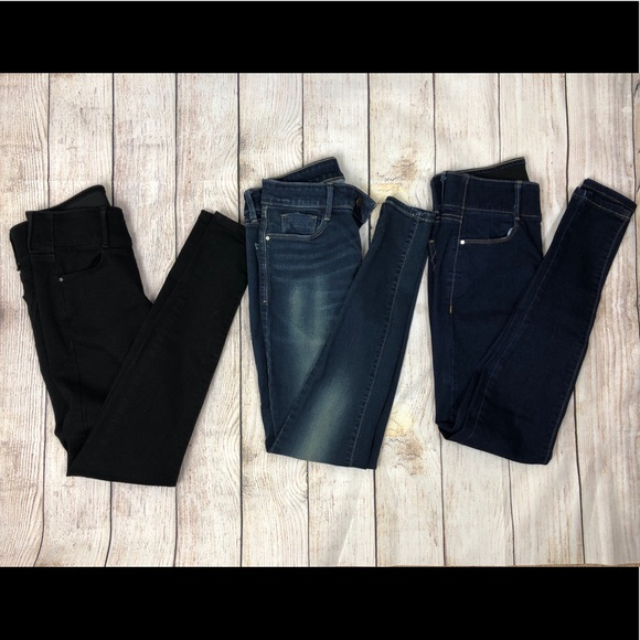 Apt. 9 Denim - 3 Pairs Apt 9 Size 4L Tummy Control Skinny Jeans